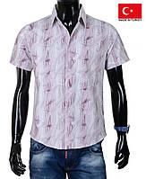 Яркая рубашка с коротким рукавом.Летняя мужская тенниска.