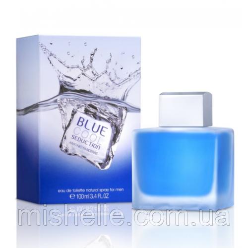 Мужская парфюмированная вода Antonio Banderas Blue Cool Seduction Men (Бандерас Блю Кул Седакшн Мэн) копия