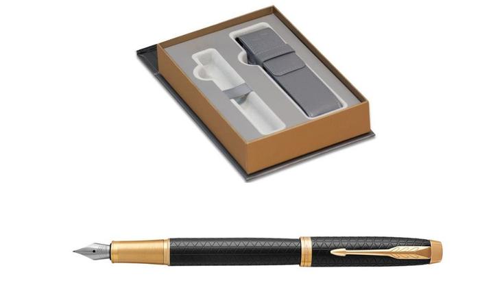 Ручка перьевая Parker IM PREMIUM BLACK GT ETUI, фото 2