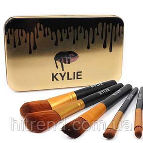 Набор кисточек в стиле Kylie большие черные 12 штук 1402 - 132322