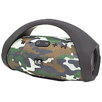 ➀Блютуз колонка LZ Boombox mini Camouflage беспроводная Bluetooth подключение портативная 10 Вт Стерео