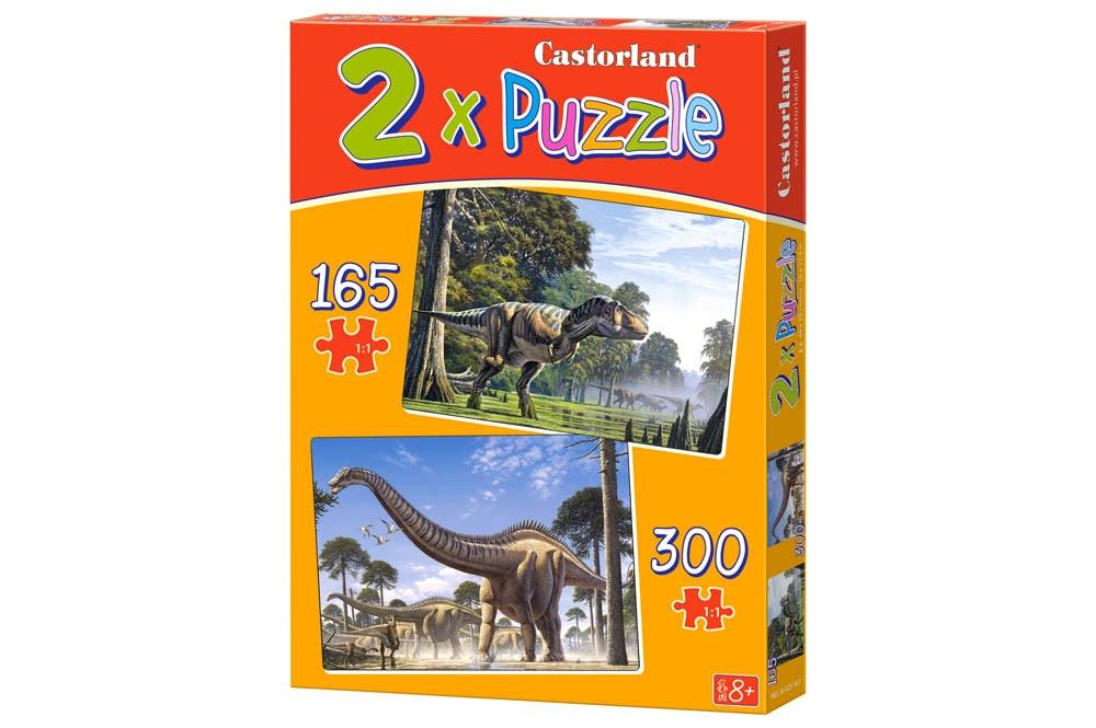 """Пазлы 2в1 """"Динозавры""""."""