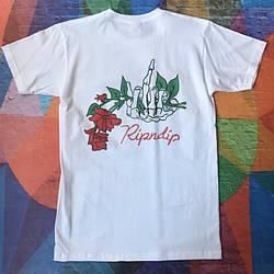 Белая футболка RipNDip Fuck • Мужская и женская • Бирки ориг