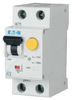 Диф. автомат PFL6-6/1N/C/003 2р 6А 30мА C Eaton