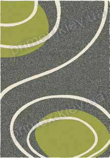 Ковер для дома Opal Cosy structure завиток цвет серый с зеленым