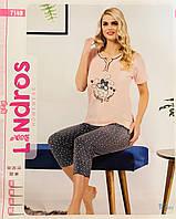 Женская пижама хлопок LINDROS Турция размер M(46) 7149+