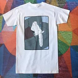 Белая футболка RipNDip - Lazy Cat • Мужская и женская • Бирки ориг