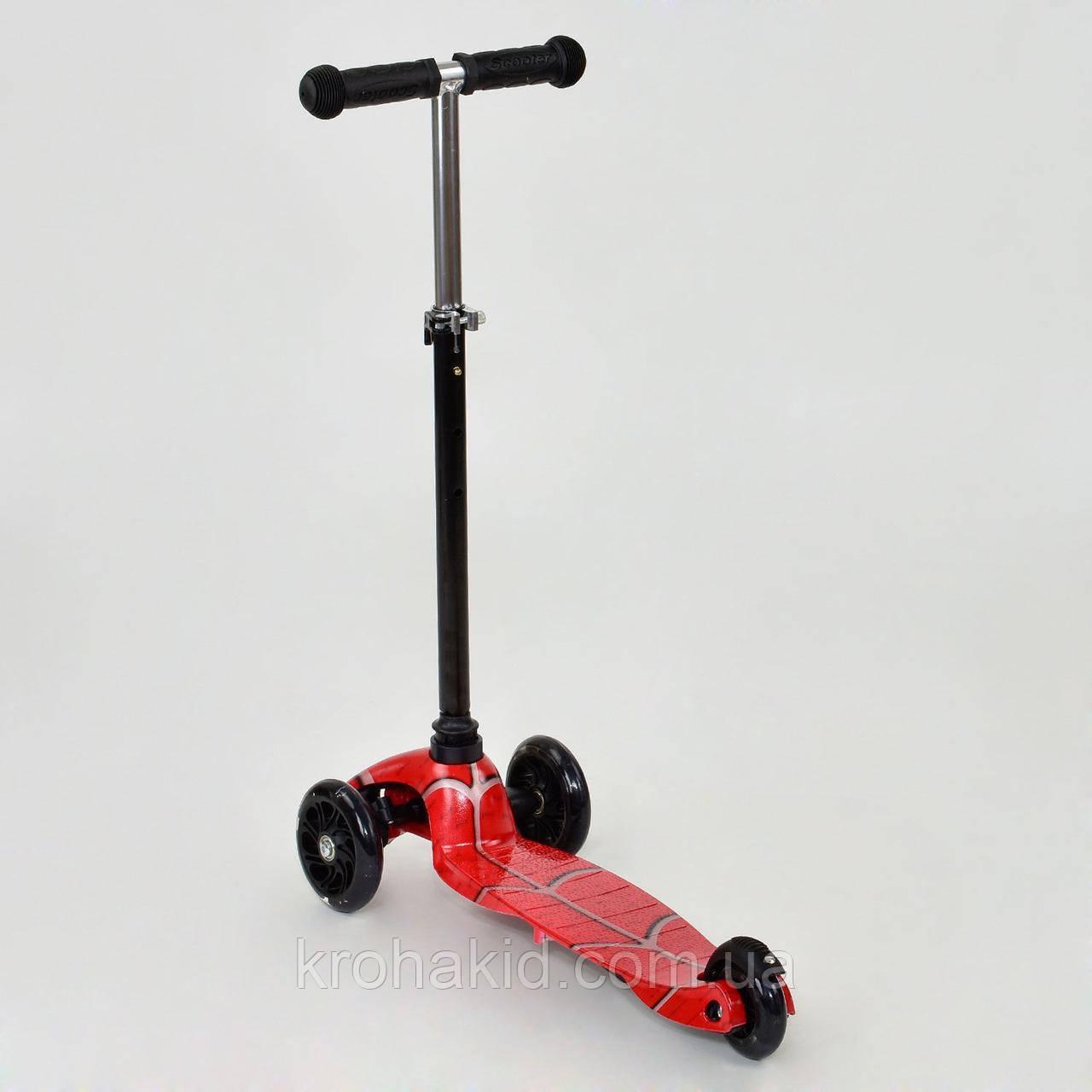 СамокатBest ScooterMini1403 Графический рисунок (Черно-красный)