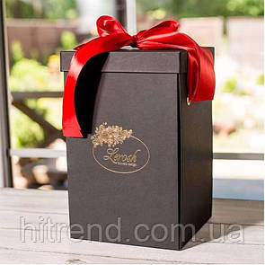 Подарочная коробка для розы в колбе Lerosh - 33 см, Черная - 138961