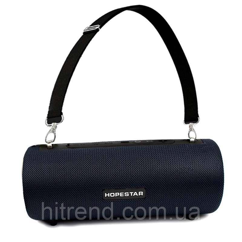 Портативная акустическая Bluetooth колонка Hopestar H39 влагостойкая черная - 140089