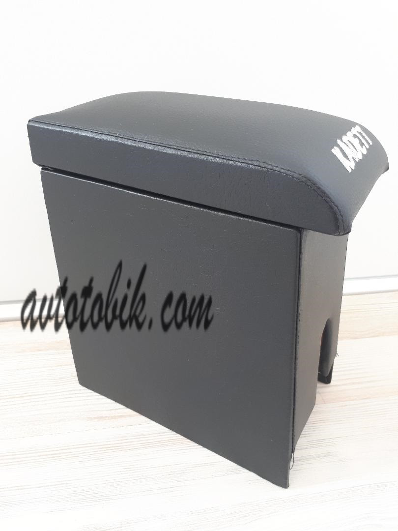 Подлокотник Opel Kadett (Опель Кадетт) черный с вышивкой