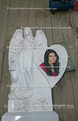 Памятник с ангелом из мрамора№3