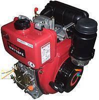 178FE (OHV)-диз. двигатель,6 л.с.  ШЛИЦ. соед+ ЭЛЕКТРОСТАРТЕР