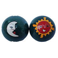 """Шары для рук """"Солнце и луна"""" диаметр 4,2 см синие (C0074а), фото 1"""