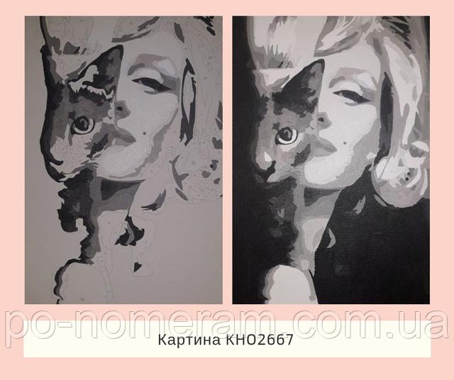 Черно-белый портрет Мерлин Монро