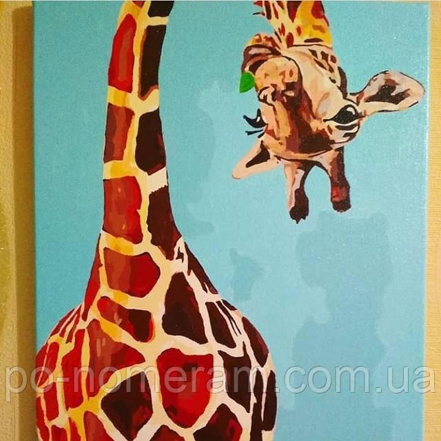 Раскраска по номерам жираф ТМ Ідейка