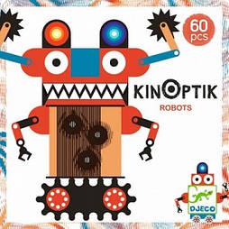 "DJECO Анимационный пазл  ""Киноптик роботи"",DJ05611,Kinoptik Robots"