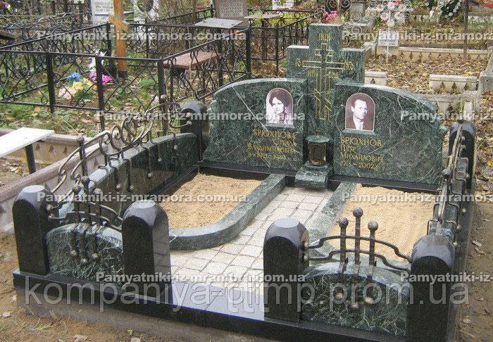 Мраморное   надгробие  с крестом №5