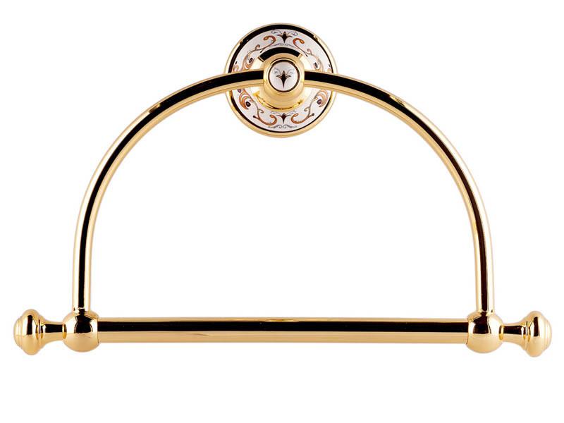 Кольцо для полотенца KUGU Medusa золото