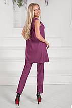 """Джинсовый брючный женский костюм """"Norrington"""" с туникой без рукавов (2 цвета), фото 3"""