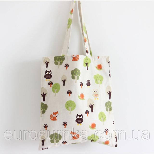 Тряпичные сумки с логотипом
