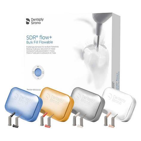 Пакований рідкий композит SDR Flow+ Bulk Fill Flowable Dentsply (набір 110х0,25г: А1, А2, А3, UO), фото 2