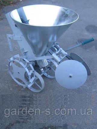 Картофелесажалка Ярило с бункером для удобрений оцинкованая с тракнспортировочными колёсами, фото 2