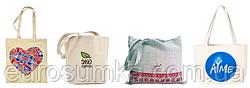 Льняные, тканевые, хлопковые сумки от 50 шт. оптом