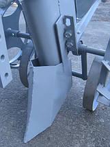 Картофелесажалка Ярило с бункером для удобрений оцинкованая с тракнспортировочными колёсами, фото 3