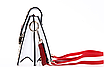 Сумка женская белая с вышивкой, фото 6