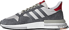 Мужские кроссовки Adidas ZX 500 RM OG Colorway (Grey Four / Ftwr White / Scarlet)
