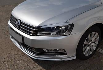 Губа VW Passat B7 тюнинг обвес переднего бампера стиль R-Line