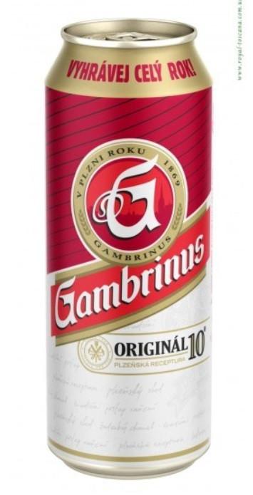 Пиво GAMBRINUS ORIGINAL 10. Светлое 0,5л.