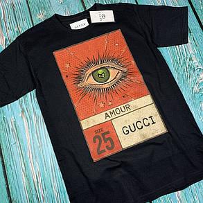 Футболка чёрная • Gucci - Amour, фото 2