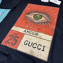 Футболка чёрная • Gucci - Amour, фото 3