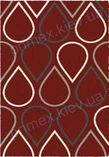 Ковер для дома Opal Cosy structure капли цвет красный