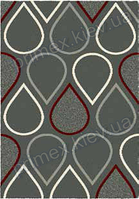 Ковер для дома Opal Cosy structure капли цвет серый