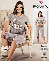 Женская пижама хлопок FAWN Турция размер L(48) 5534