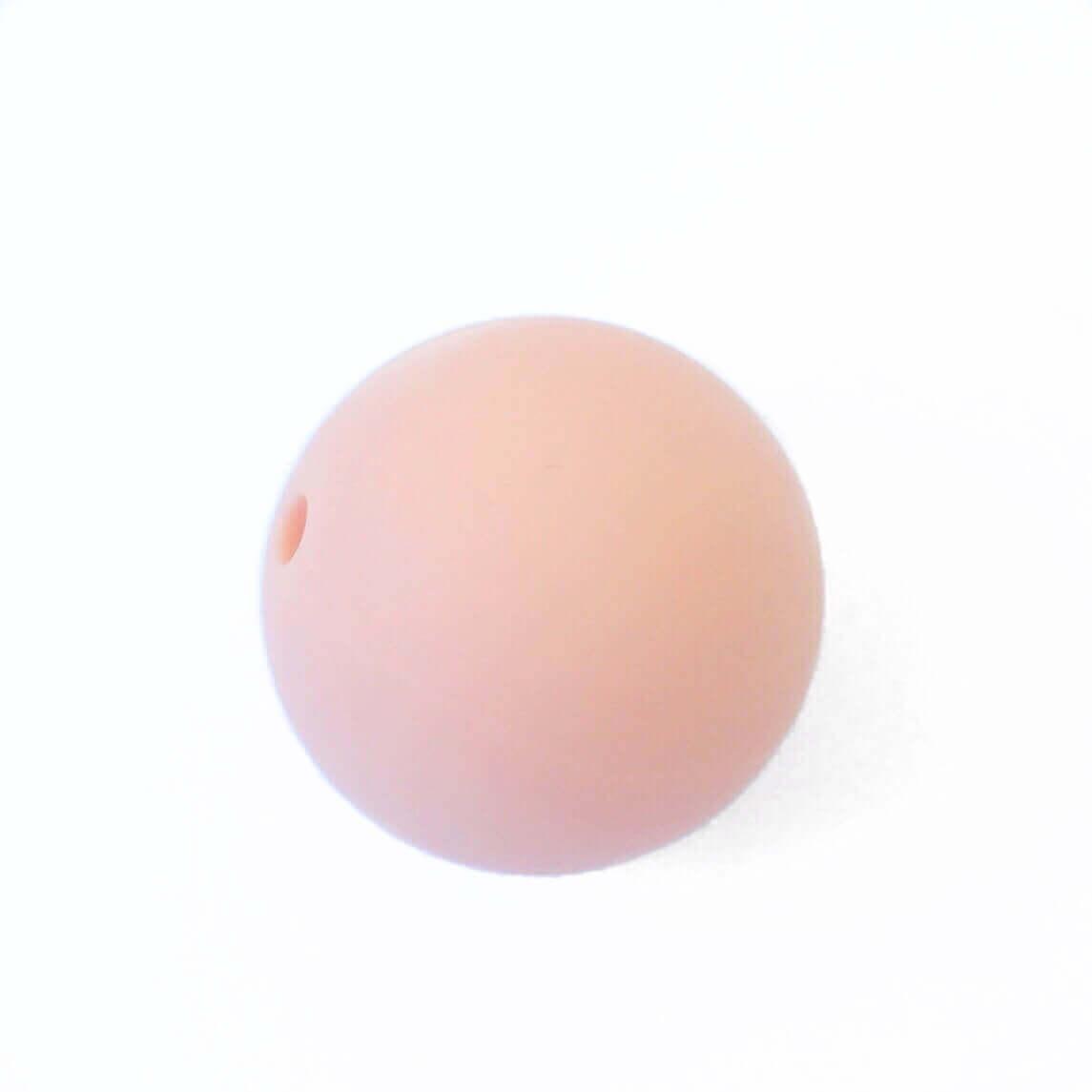 Бусина 19 мм (персик) круглая силиконовая