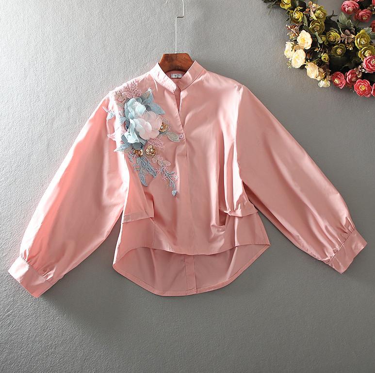 Стильная рубашка с аппликацией 44-46 (в расцветках)