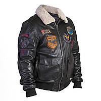 Летная куртка DAYTONA кожаная черная