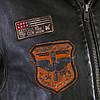 Летная куртка DAYTONA кожаная черная, фото 8