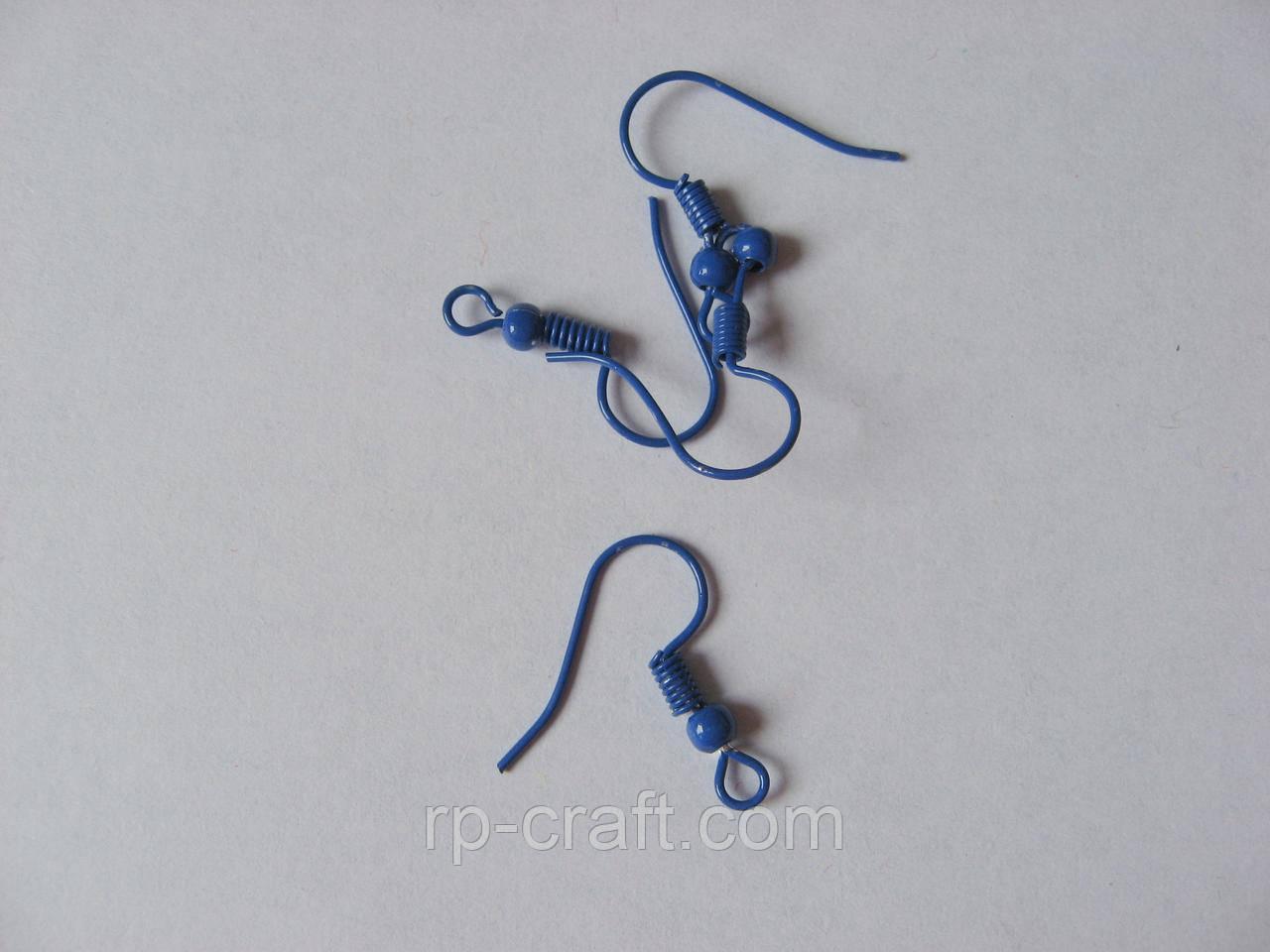 Швензи, гачок для сережок. Синього кольору. Ціна за пару.