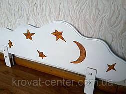 """Білий захисний бортик для дитячого ліжечка """"Хмара"""" з аплікацією 100 див., фото 3"""