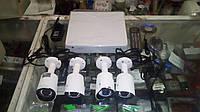Комплект видеонаблюдения из 4-х камер и видеорегистратора GreenVision GV-K-S13/04 1080P