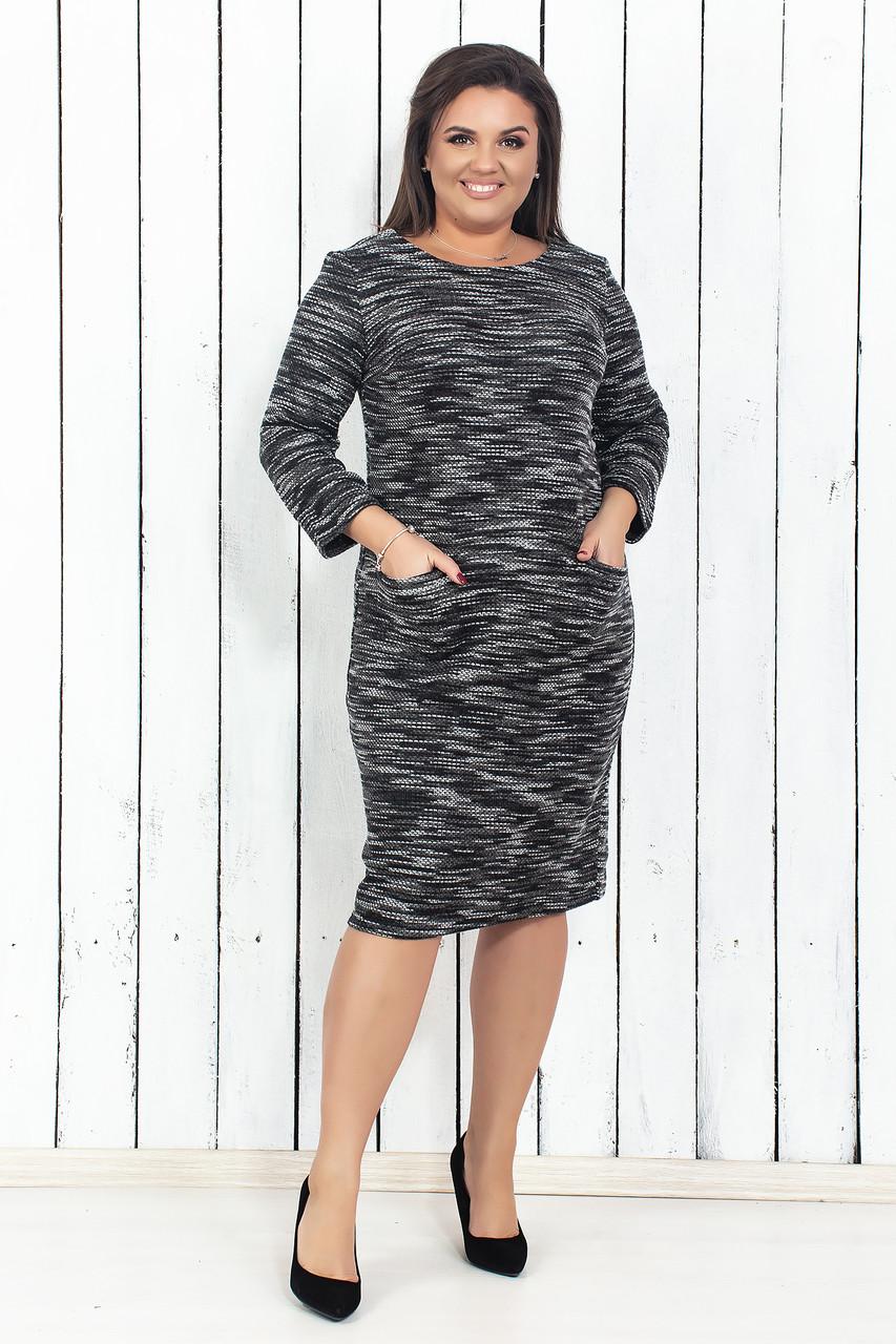 Теплое платье букле 50-56 р ( разные цвета )