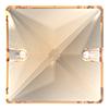Пришивные хрустальные квадраты Preciosa (Чехия) 16х16 мм Crystal Honey 2-й сорт