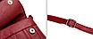 Сумка женская красная с кошельком, фото 4