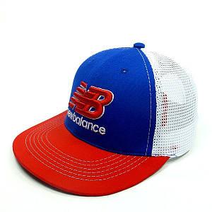 Бейсболка FULL CAP   синий+красный