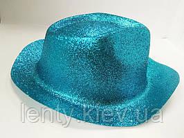 Карнавальні капелюхи (підліткові) Вечірка Блискітки Блакитний